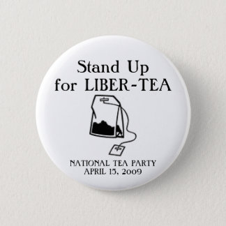 National Tea Party 2 Inch Round Button