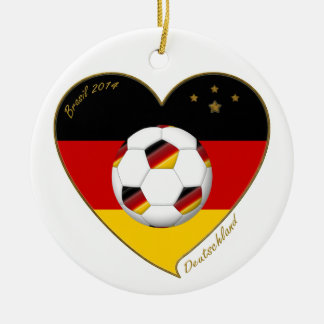 National team of GERMANY SOCCER 2014 and flag Ceramic Ornament