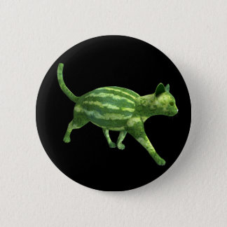 National Watermelon Day Cat 2 Inch Round Button