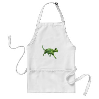National Watermelon Day Cat Standard Apron
