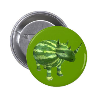 National Watermelon Day Rhinoceros 2 Inch Round Button