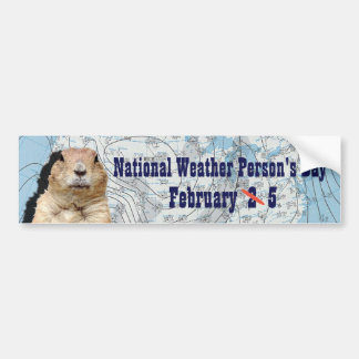 National Weather Person's Day February 5 Bumper Sticker