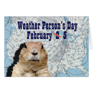 National Weather Person's Day February 5 Card