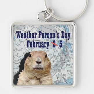 National Weather Person's Day February 5 Keychain