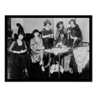 National Womens Tea Party 1923 Poster