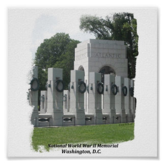 National WWII Memorial Poster