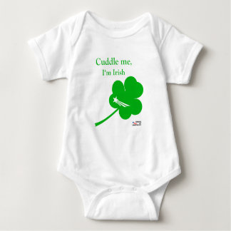 NationOfImmigrants - Irish Baby Cuddle NOI logo Baby Bodysuit