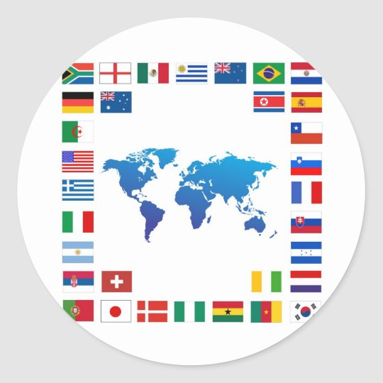 Nations Classic Round Sticker