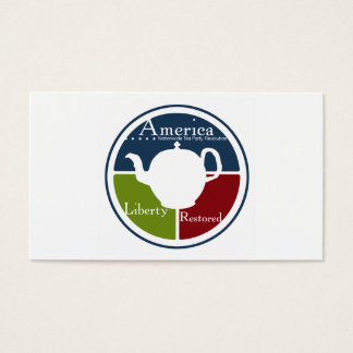 Nationwide Tea Party business card