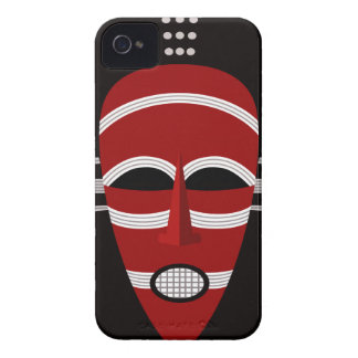 Native African Indian Face Mask iPhone 4 Case