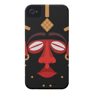 Native African Indian Face Mask iPhone 4 Covers