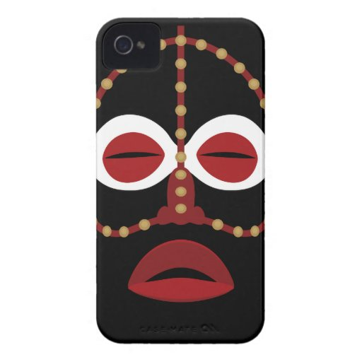 Native African Indian Face Mask Blackberry Cases