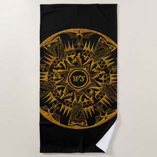 Native American 1 Beach Towels