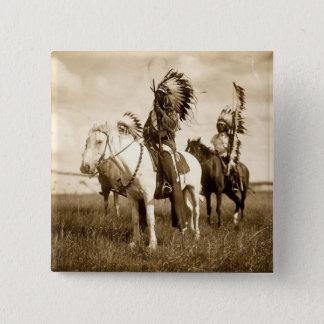 Native American 2 Inch Square Button