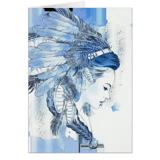 Native American All Occasion Card with Indian Prin