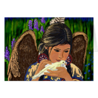 Native American Angel Notecard