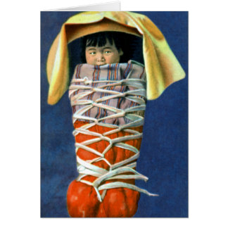 Native American Baby in Cradleboard Card