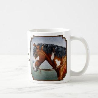 Native American Bay Pinto War Horse Coffee Mug