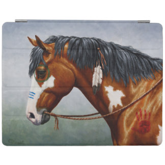 Native American Bay Pinto War Horse iPad Cover