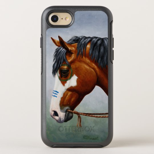 Native American Bay Pinto War Horse OtterBox Symmetry iPhone 7 Case