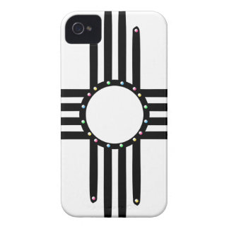 Native American beaded Zia iPhone 4 Cover