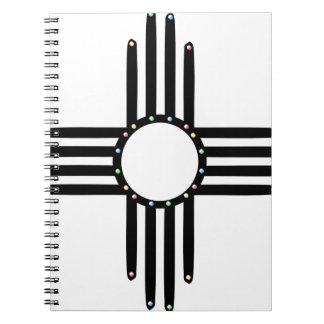 Native American beaded Zia Notebooks