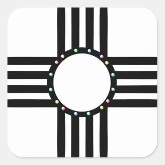 Native American beaded Zia Square Sticker