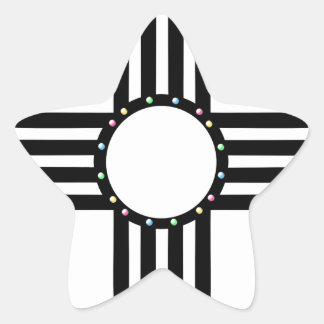 Native American beaded Zia Star Sticker