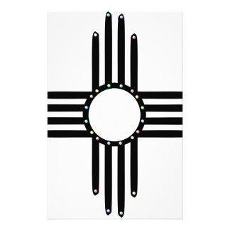 Native American beaded Zia Stationery