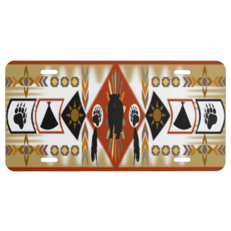 Native American Bear Clan License Plate
