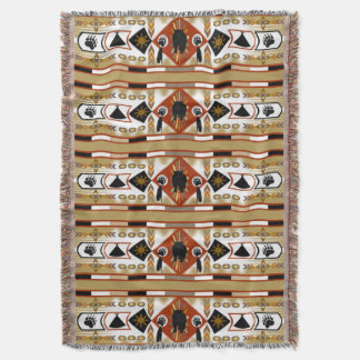 Native American Bear Clan Throw
