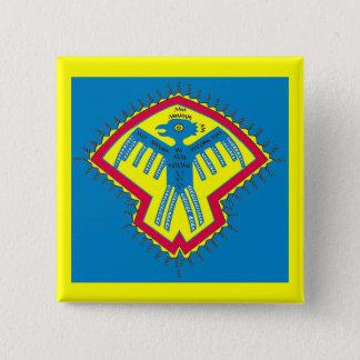 Native American bird 2 Inch Square Button
