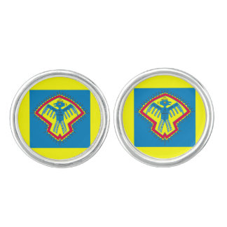 Native American bird symbol Cufflinks