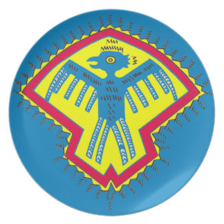 Native American bird symbol Plate