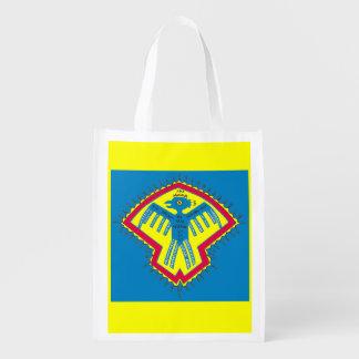 Native American bird symbol Reusable Grocery Bag