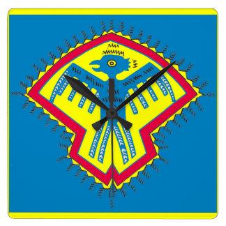 Native American bird symbol Square Wall Clock