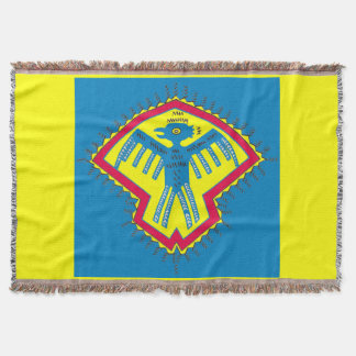 Native American bird Throw Blanket