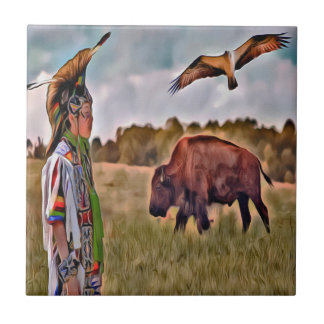 Native American Ceramic Photo tile