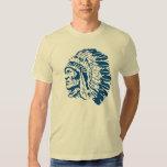 Native American Chief Blue Silhouette Shirt