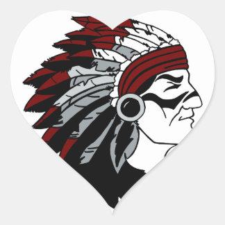 Native American Chief Heart Sticker