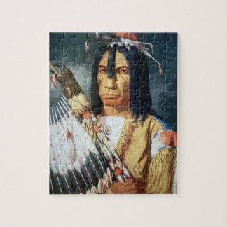 Native American Chief of the Cree people of Canada Jigsaw Puzzle
