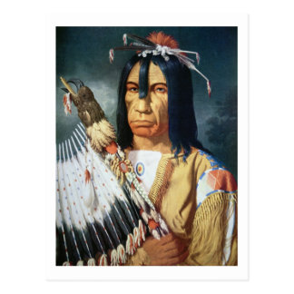 Native American Chief of the Cree people of Canada Postcard