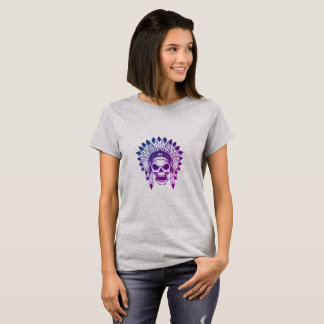 Native American Chief Skull T-Shirt