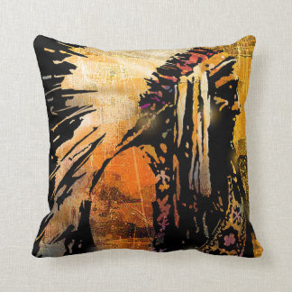 Native American Chief Throw Pillow