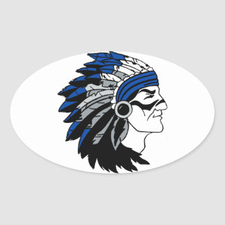 Native American Chief with Red Headress Sticker