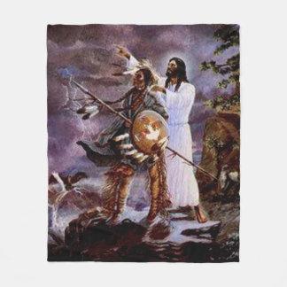 NATIVE AMERICAN CHRISTIAN JESUS CHARM BLANKET
