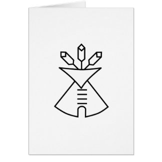 Native American Church Symbol Card