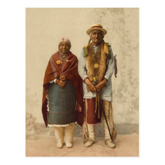 Native American Couple, 1899 Postcard