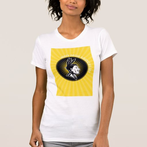 Native American Day Celebration Retro Greeting Car Tees