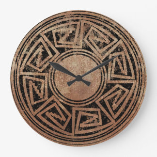 Native American Design 2 Large Clock
